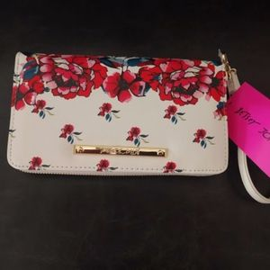 Betsey Johnson floral oversized wallet